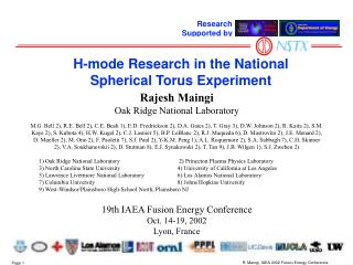 H-mode Research in the National Spherical Torus Experiment
