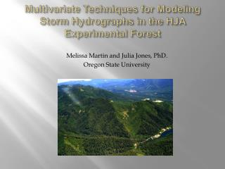 Multivariate Techniques for Modeling Storm Hydrographs in the HJA Experimental Forest