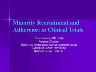 minority recruitment and adherence in clinical trials