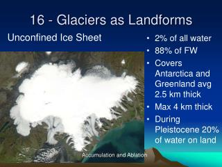 16 - Glaciers as Landforms
