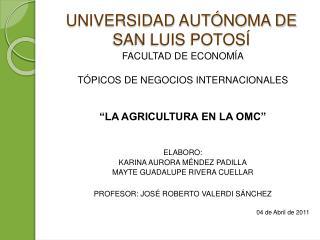 UNIVERSIDAD AUT NOMA DE SAN LUIS POTOS