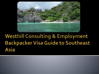 Westhill Consulting & Employment Backpacker Visa Guide to So