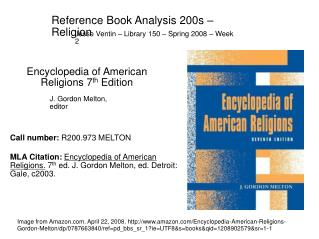 Reference Book Analysis 200s   Religion