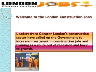 Construction Agency In London