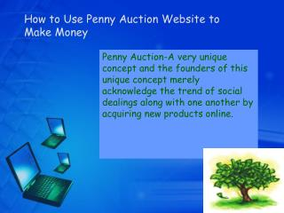How to Use Penny Auction Website to Make Money