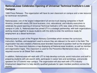 NationaLease Celebrates Opening of Universal
