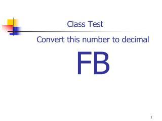 Convert this number to decimal  FB