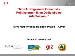 MENA B lgesinde Ormancilik Politikalarinin Iklim Degisikligine Adaptasyonu     Silva Mediterranea B lgesel Projesi   CP
