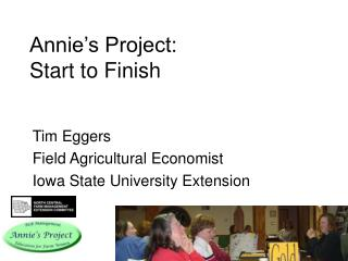 annie s project: start to finish