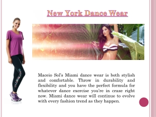 Dance Wear Miami