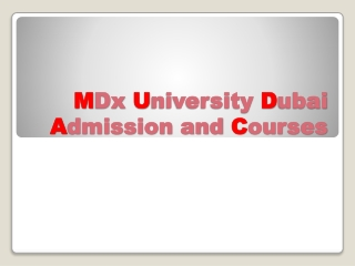 MDX Foreign university Study Programmes