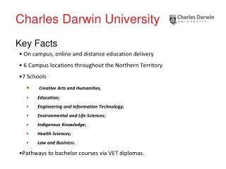 Charles Darwin University   Key Facts