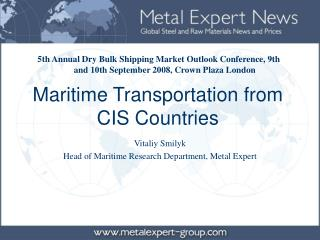 Maritime Transportation from CIS Countries
