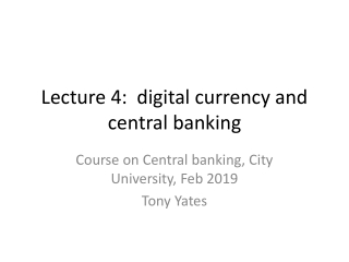 Will central banking survive electronic money
