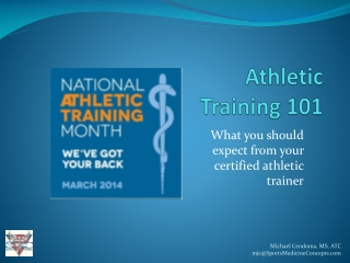 What You Should Expect from your Athletic Trainer (2014)