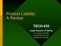 product liability: a review
