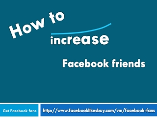 How to Increase fb fans?