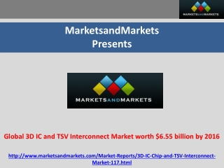 Global 3D IC and TSV Interconnect Market worth $6.55 billion