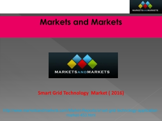 Smart Grid Technology Market worth $80.6 Billion by 2016