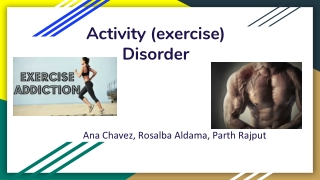 personality and exercise