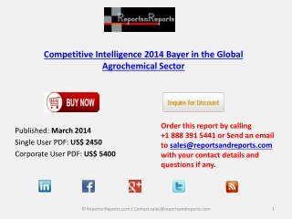 Bayer in the Global Agrochemical Market Analysis