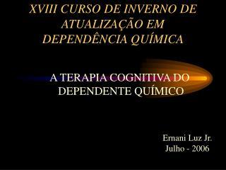 XVIII CURSO DE INVERNO DE ATUALIZA  O EM DEPEND NCIA QU MICA