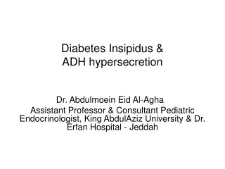 diabetes insipidus  adh hypersecretion