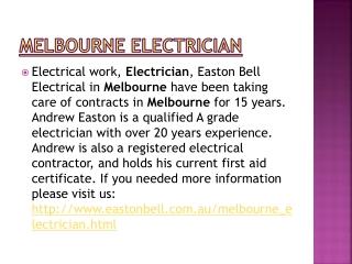 Melbourne electrician