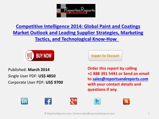 Global Paint and Coatings Industrial Overview 2014