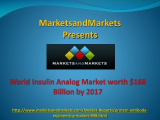 World Insulin Analog Market by 2017