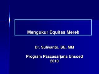 Mengukur Equitas Merek