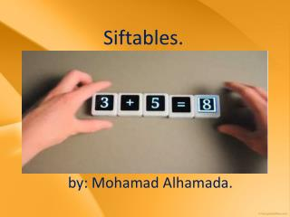 Siftables.
