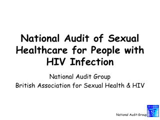 National Audit of Sexual Healthcare for People with HIV Infection