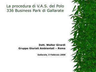 La procedura di V.A.S. del Polo 336 Business Park di Gallarate