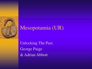Mesopotamia UR