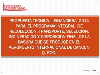 PROPUESTA TECNICA FINANCIERA ASUR 2014