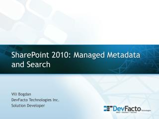 SharePoint 2010: Managed Metadata and Search