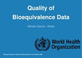 quality of  bioequivalence data