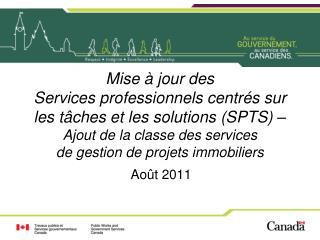 Mise   jour des Services professionnels centr s sur les t ches et les solutions SPTS   Ajout de la classe des services d