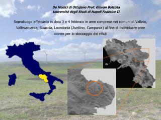 Sopralluogo effettuato in data 3 e 4 febbraio in aree comprese nei comuni di Vallata, Vallesaccarda, Bisaccia, Lacedonia