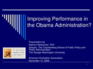 Improving Performance in  the Obama Administration