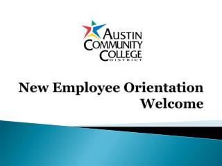 New Employee Orientation Welcome