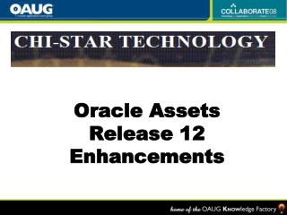 Oracle Assets Release 12 Enhancements