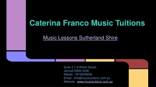 Music Tuitions Sutherland Shire