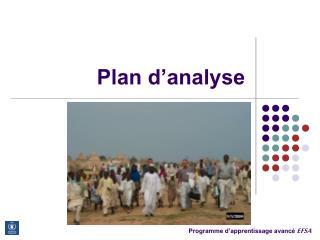 Plan d analyse