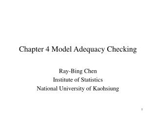 chapter 4 model adequacy checking