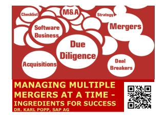 Managing multiple mergers at a time - ingredients for succes