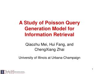 A Study of Poisson Query Generation Model for Information Retrieval