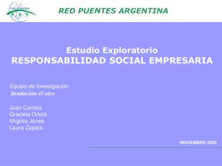 Estudio Exploratorio  RESPONSABILIDAD SOCIAL EMPRESARIA