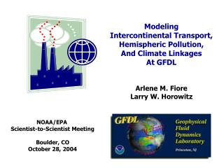 Modeling  Intercontinental Transport, Hemispheric Pollution,  And Climate Linkages At GFDL